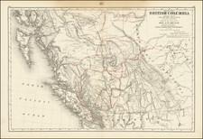 Western Canada and British Columbia Map By Joseph William Trutch