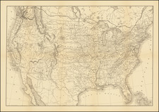 United States and Washington Map By Flemming, Brewster & Alley
