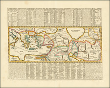 Mediterranean, Central Asia & Caucasus, Turkey & Asia Minor and Greece Map By Henri Chatelain