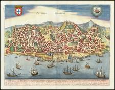 Portugal Map By Matthaus Merian
