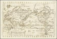 World Map By Isaac Brouckner / Giovanni Antonio Remondini