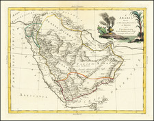 Middle East and Arabian Peninsula Map By Antonio Zatta