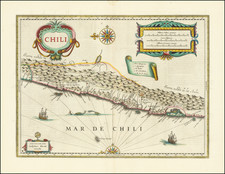 Chile Map By Willem Janszoon Blaeu