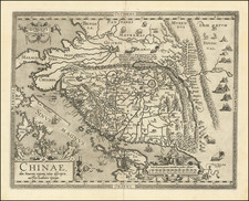 Asia, China, Japan, Southeast Asia and Philippines Map By Abraham Ortelius