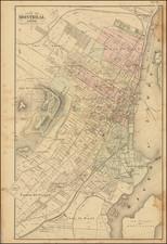 Eastern Canada Map By Henry Francis Walling / George Tackabury