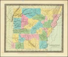 Arkansas Map By David Hugh Burr