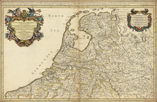 Netherlands and Belgium Map By William Berry