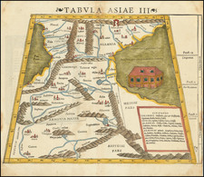 Central Asia & Caucasus, Middle East and Russia in Asia Map By Sebastian Munster