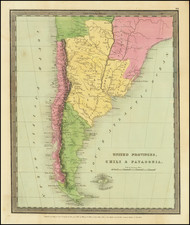 Argentina and Chile Map By David Hugh Burr