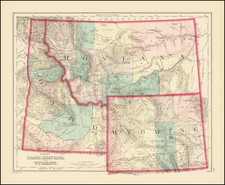 Idaho, Montana and Wyoming Map By O.W. Gray