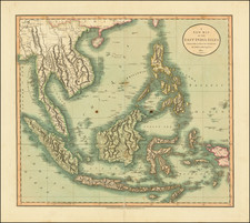Southeast Asia, Philippines, Indonesia, Malaysia and Thailand, Cambodia, Vietnam Map By John Cary