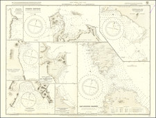 Mexico and Baja California Map By British Admiralty