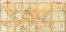 World Map By Waterlow & Sons