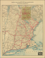 Connecticut, Massachusetts, New Hampshire and Vermont Map By Matthews-Northrup & Co.