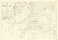 Massachusetts Map By British Admiralty