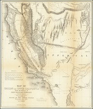 Southwest, Arizona, Utah, Nevada, Utah and California Map By John Charles Fremont / Charles Preuss