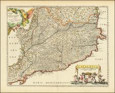 Catalonia Map By Pierre Mariette
