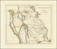 Plains, Missouri, Southwest, Rocky Mountains and Pacific Northwest Map By Mathew Carey