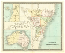 Australia Map By Henry Teesdale