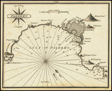 Sicily Map By William Heather