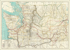Washington Map By McGill-Warner Co.