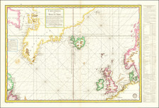 Polar Maps, Atlantic Ocean, Iceland and Canada Map By Depot de la Marine