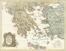Turkey, Turkey & Asia Minor and Greece Map By Mahmud Raif Efendi