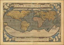 Typus Orbis Terrarum [Rare 2nd Edition, 2nd State] By Abraham Ortelius