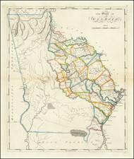 Georgia Map By Mathew Carey