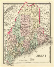 Maine Map By O.W. Gray