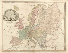 Europe and Europe Map By William Faden