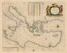 Europe, Italy, Mediterranean, Balearic Islands, Africa and North Africa Map By Henrdick Doncker