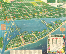 Florida and Pictorial Maps Map By Scenotour Publishing Co.