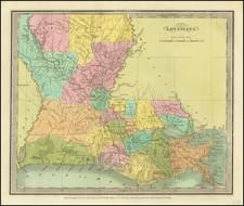 Louisiana Map By David Hugh Burr
