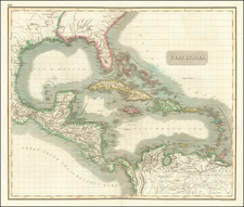 Florida, Southeast, Caribbean and Central America Map By John Thomson