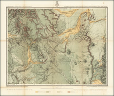 Colorado, New Mexico and Colorado Map By George M. Wheeler