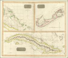 Cuba, Bahamas and Bermuda Map By John Thomson