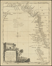 Indian Ocean and India Map By Thomas Kitchin / London Magazine