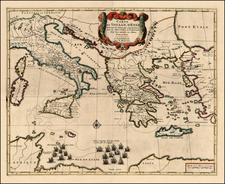 Europe, Italy, Greece, Mediterranean and Balearic Islands Map By Pieter Mortier