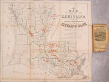 Louisiana Map By Daniel Dennett