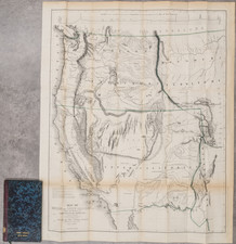 Southwest, Colorado, Utah, Nevada, Rocky Mountains, Oregon, Washington, California, Rare Books and Fair Map By John Charles Fremont / Charles Preuss