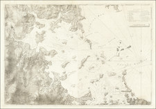 New England, Massachusetts and Boston Map By Joseph Frederick Wallet Des Barres