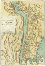 New York City and American Revolution Map By Charles Stedman / William Faden