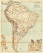 South America Map By Augustus Herman Petermann