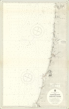 Oregon Map By British Admiralty