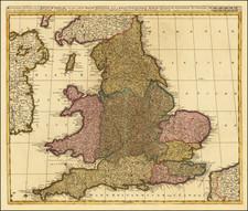 England Map By Valk & Schenk