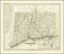 Connecticut Map By Joseph Meyer