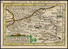 Belgium and Luxembourg Map By Petrus Bertius