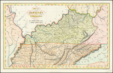 Map of the States of Kentucky and Tennessee By Hinton, Simpkin & Marshall