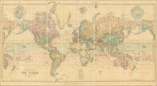World Map By Edward Stanford
